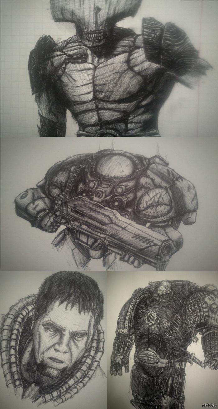 """Мои рисуночки с: Давненько выкладывал свои """"работы"""", людям понравилось, так что вот второй пак относительно новых рисунков."""