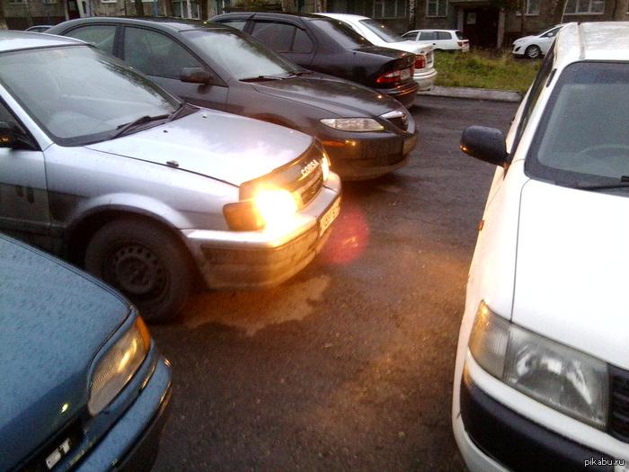 Собрался на работу...2 часа посидел на парковке! ненавижу таких, кто ставит машину надеясь, что уедет раньше всех!