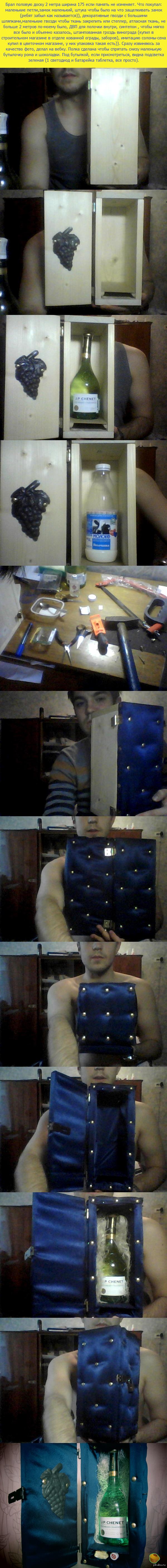 Коробка для алкоголя своими руками. Хороший и не сложный подарок. Делал сам. Замок + 1000 к защите от чужих ручонок))