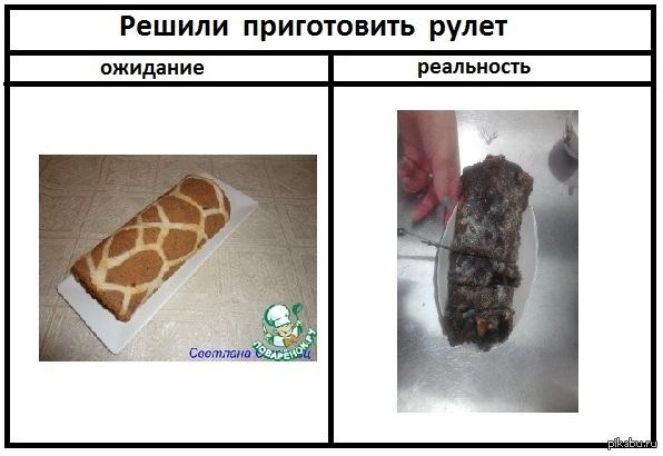 """Близко к совершенству Учусь в пищевой академии. Подруги решили приготовить на паре рулет """"Жираф"""". Видимо сегодня не их день"""