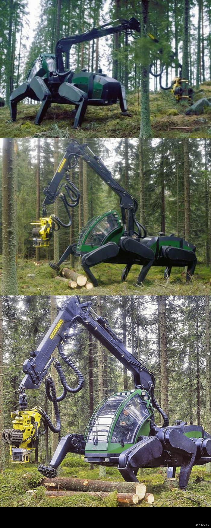 Ходячий трактор Timberjack walking machine
