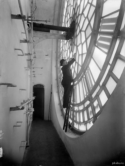 Внутри Биг-Бена. Лондон, 1920 г.