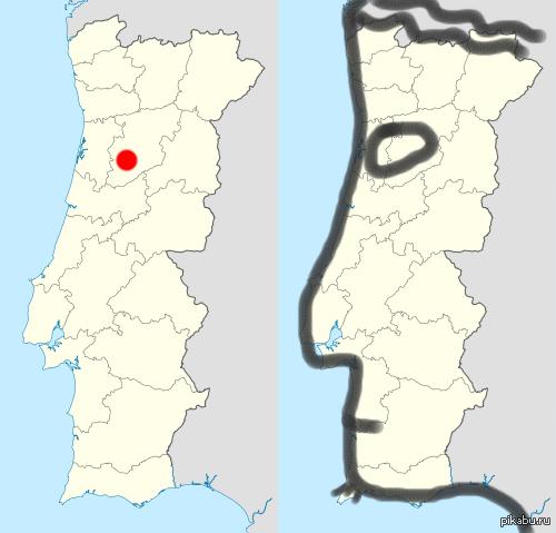 Город Файл, португалия. Карта с Википедии.