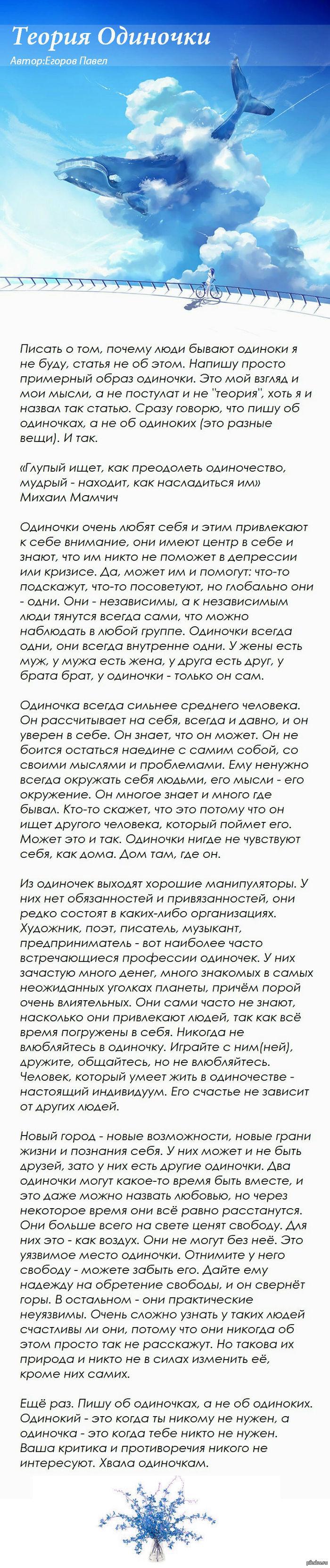 Теория Одиночки Длиннопост.