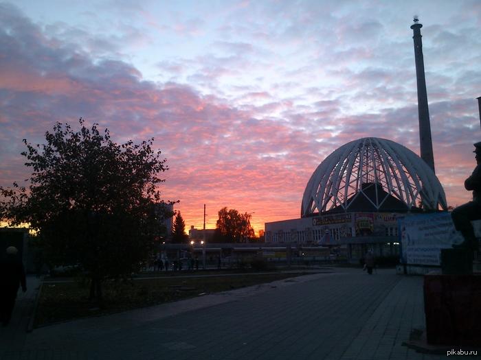 Екатеринбургский цирк утром просто красивое фото