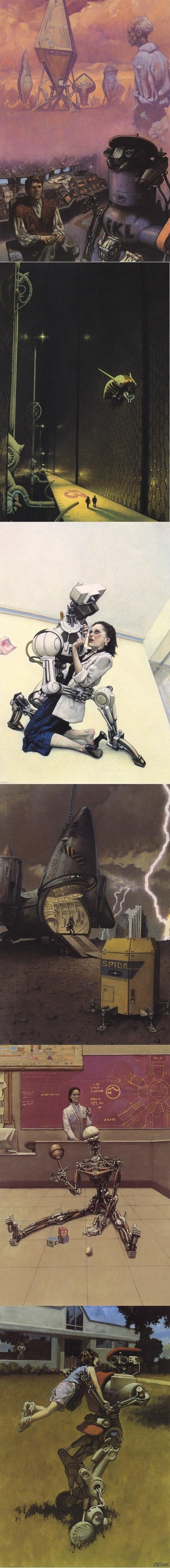 Харлан Эллисон ещё в семидесятые написал подробный сценарий экранизации азимовского «Я, робот». Сценарий так и не был воплощён в виде фильма... зато его издали в виде книги. С отличными иллюстрациями Марка Цуга.