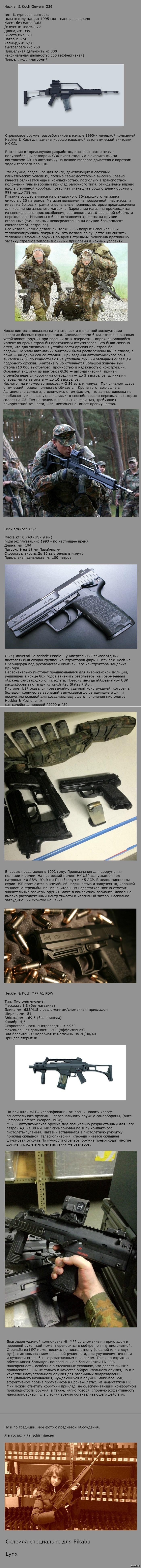 Огнестрельное оружие бундесвера. Обзор и описание огнестрельного оружия в базовой комплектации.