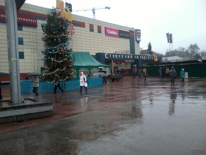 Для тех, кто считает, что у них плохая зима. Чернигов, Украина. Сегодня у нас дождь.