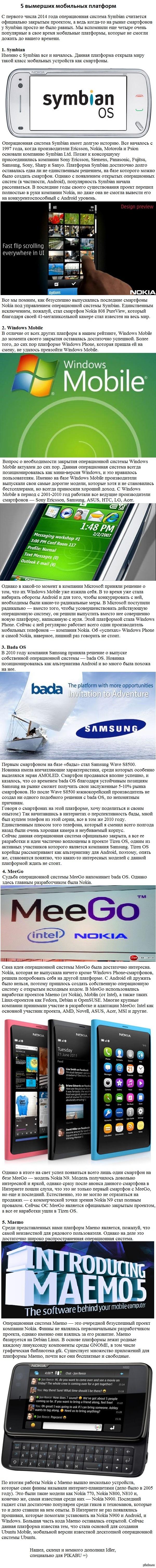 Вымершие платформы Нашел на просторах рунета, не ругайте сильно, взято из статьи)