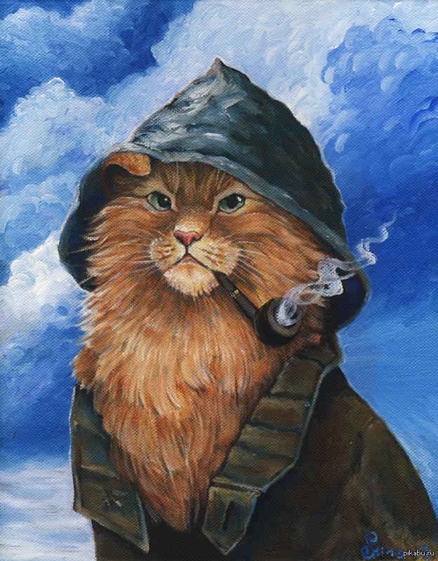 Маслом картины коты