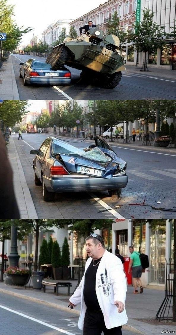 Правильная борьба против неправильно парковки Мэр Вильнюса Артурас Зуокас борется против неправильной парковки.