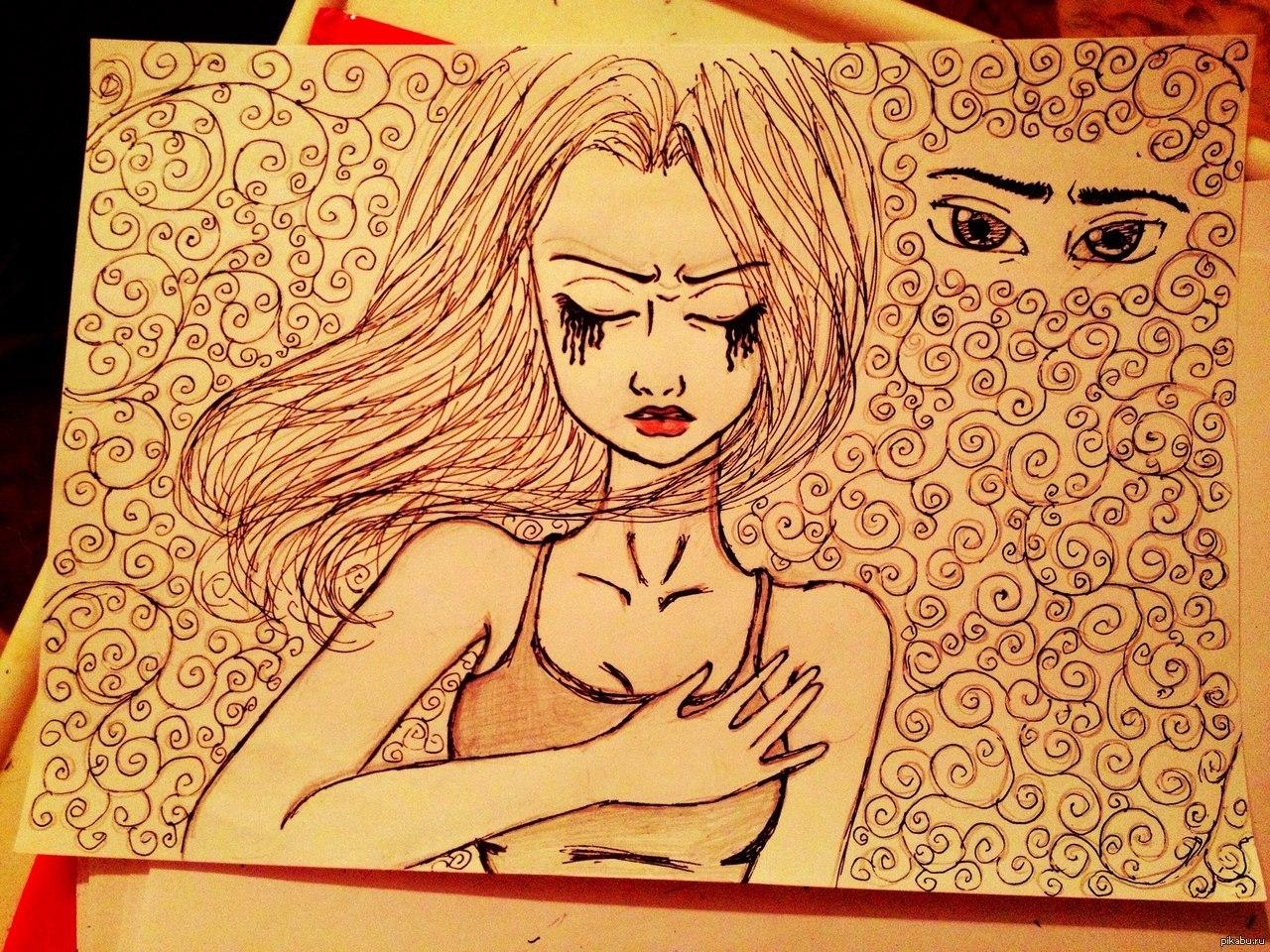 рисунки для друга просто так карандашом артист появится халате