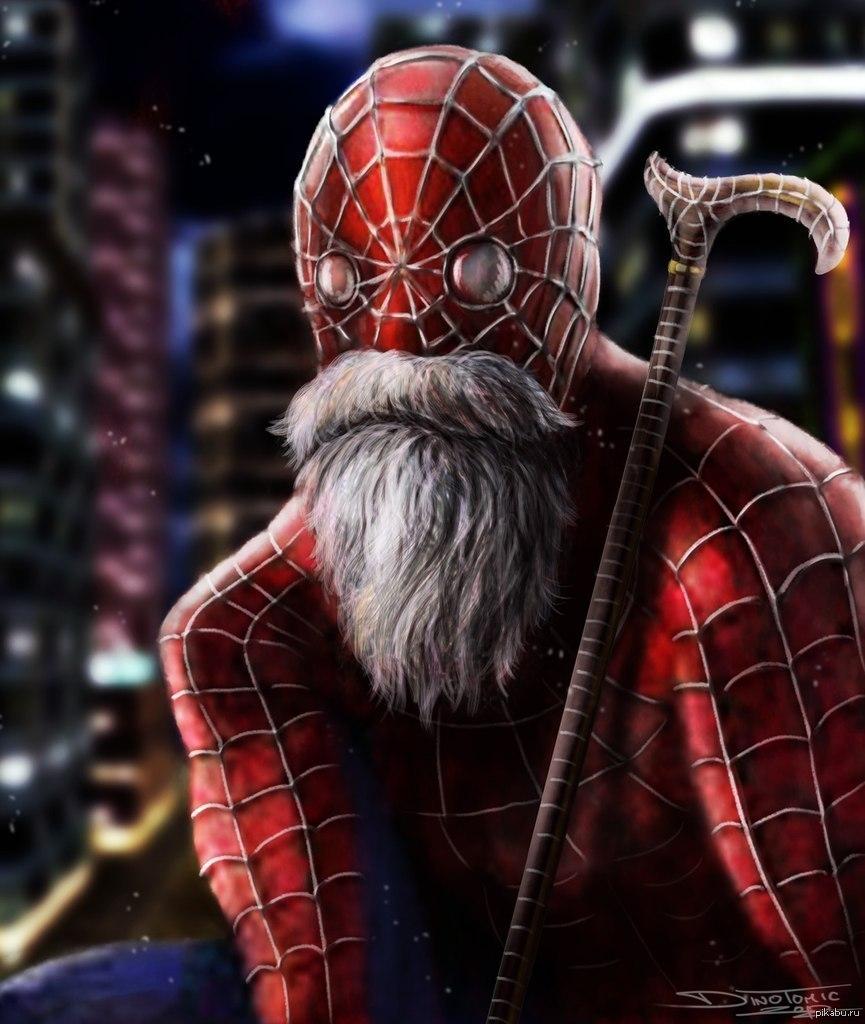 Днем, человек паук картинка прикольная