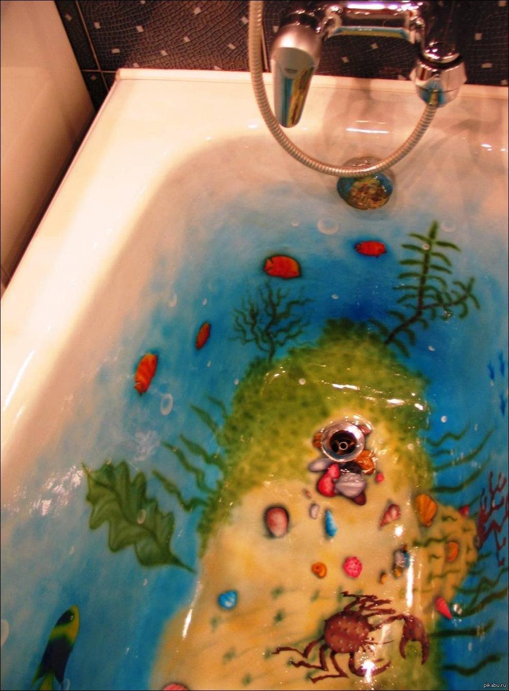 Прикольные картинки на ванную комнату