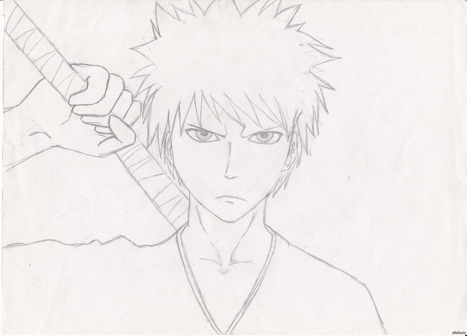Картинки аниме блич для срисовки