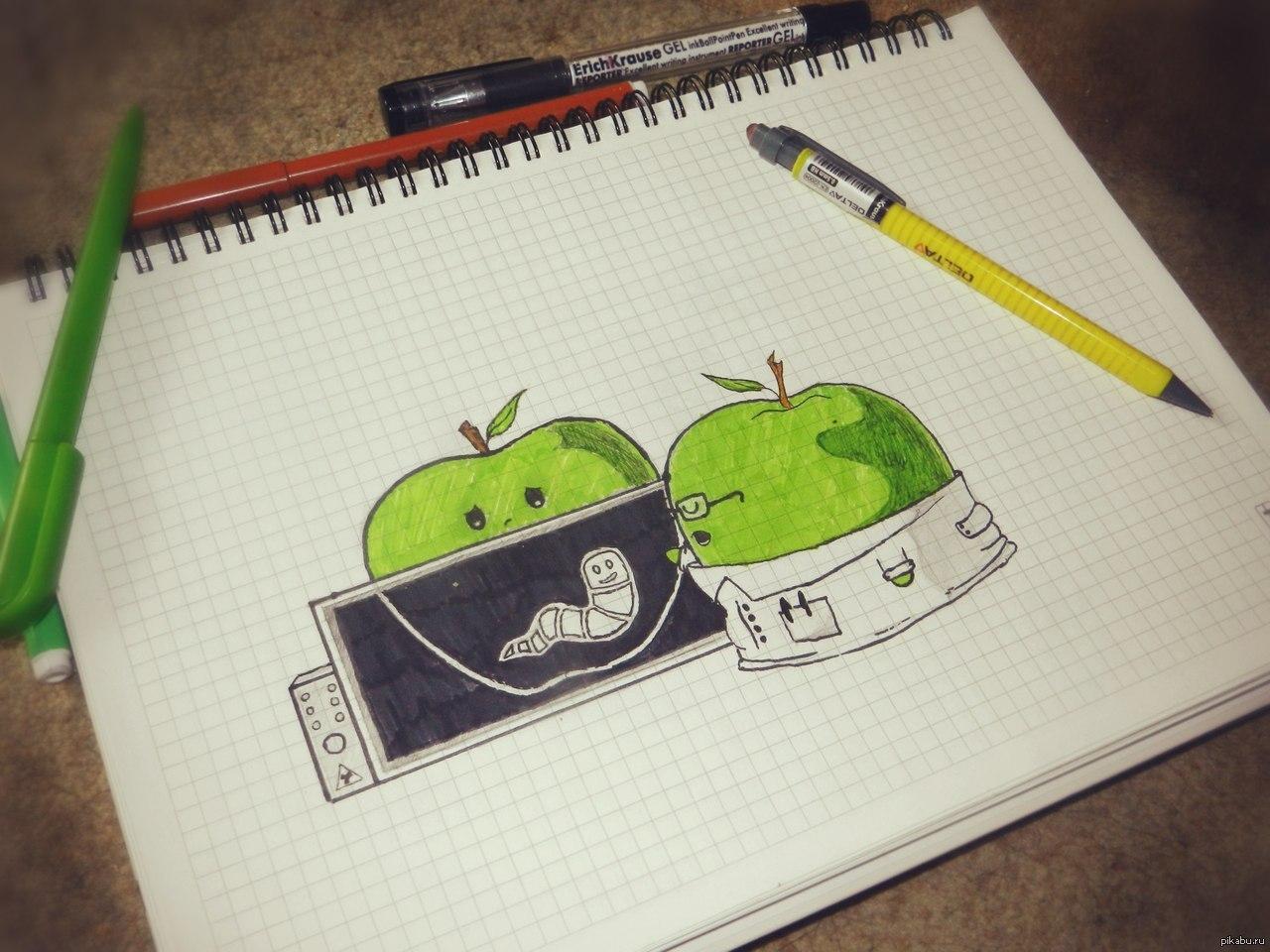 Прикольные рисунки карандашом в личном дневнике