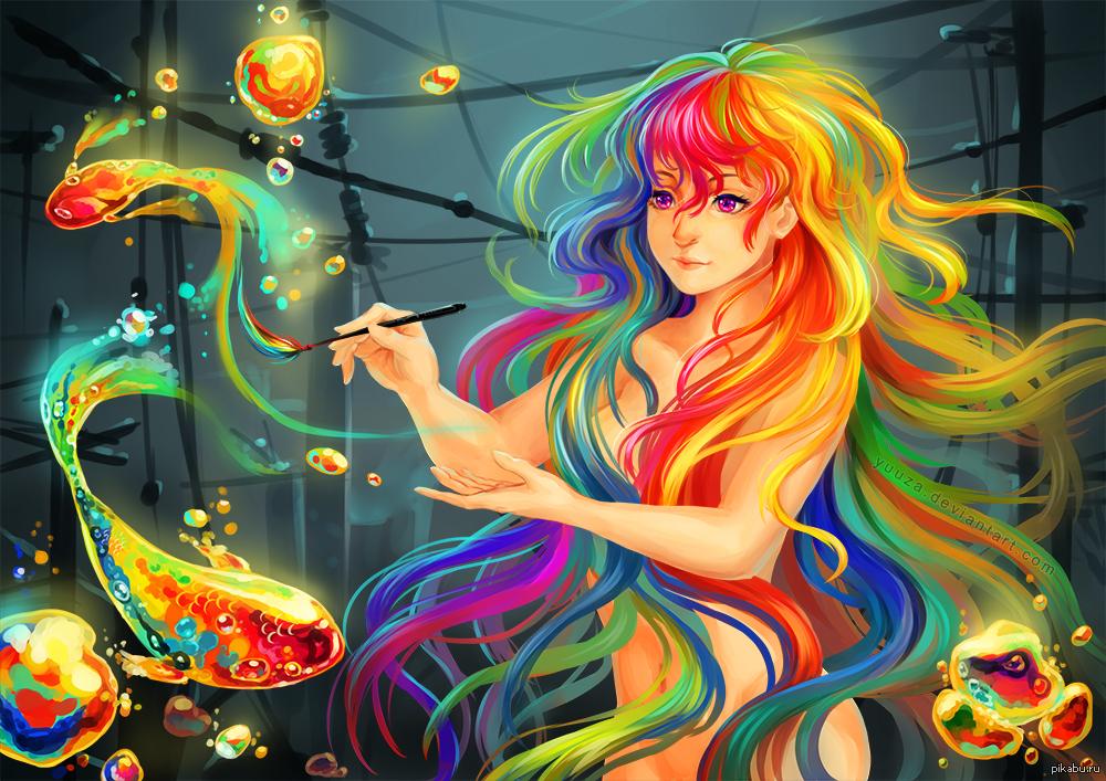 Цветные яркие картинки с девушками