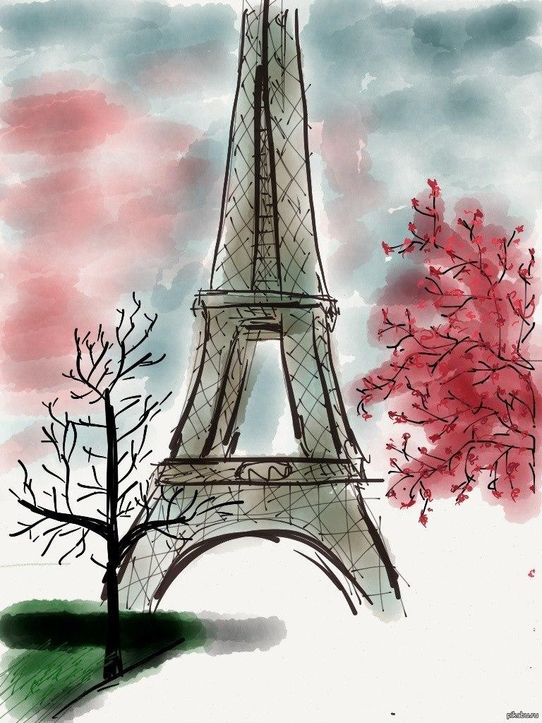 Париж картинки для срисовки