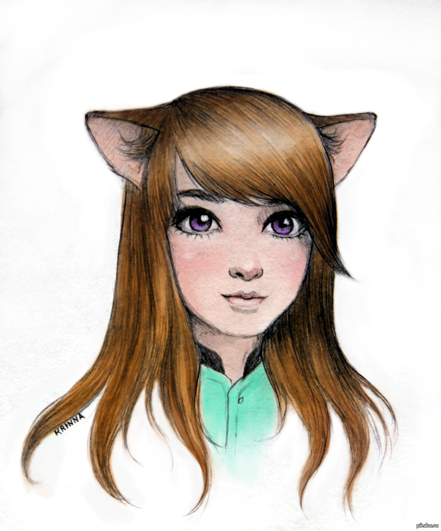 Рисунок девочки в  картинки
