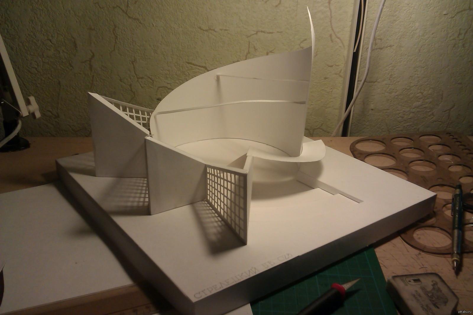 А я получил за макет А я получил 4 за макет архитектурная композиция