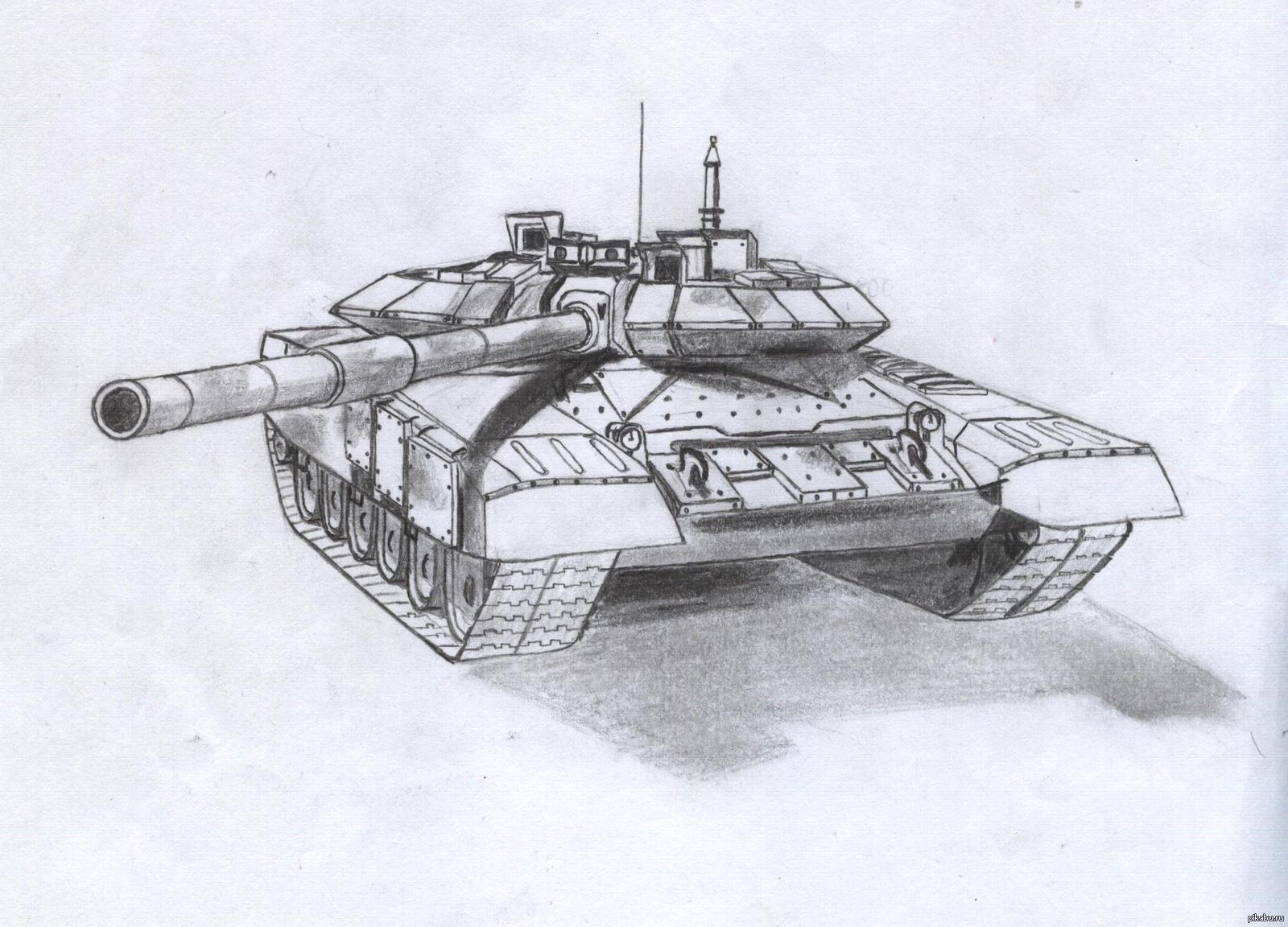 Картинки русские танки нарисованные карандашом