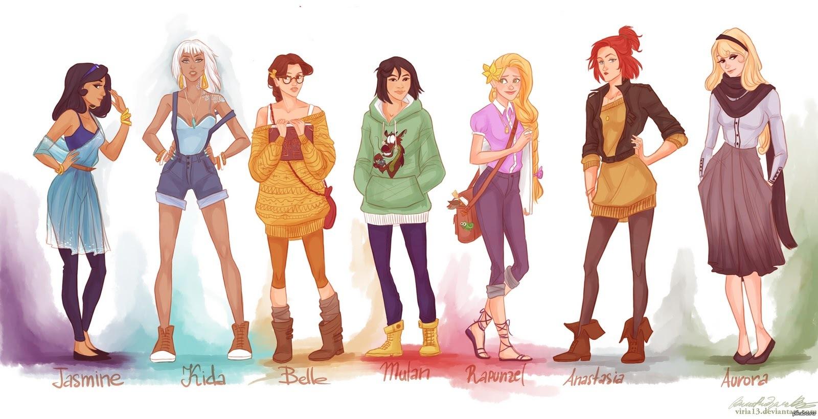 картинки современные принцессы дисней