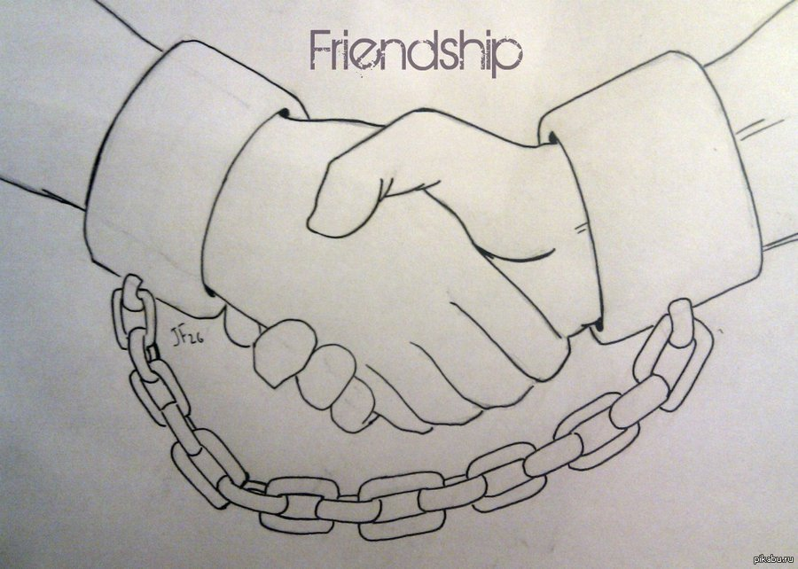 Картинки про дружбу для срисовки