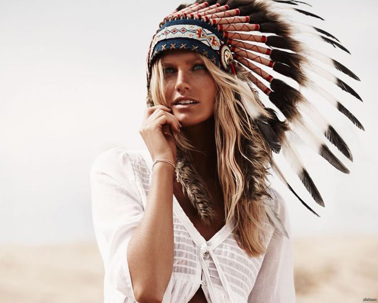 Картинка красивая девушка индейцы