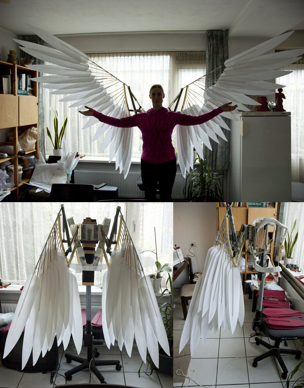 Как сделать крылья своими руками 166