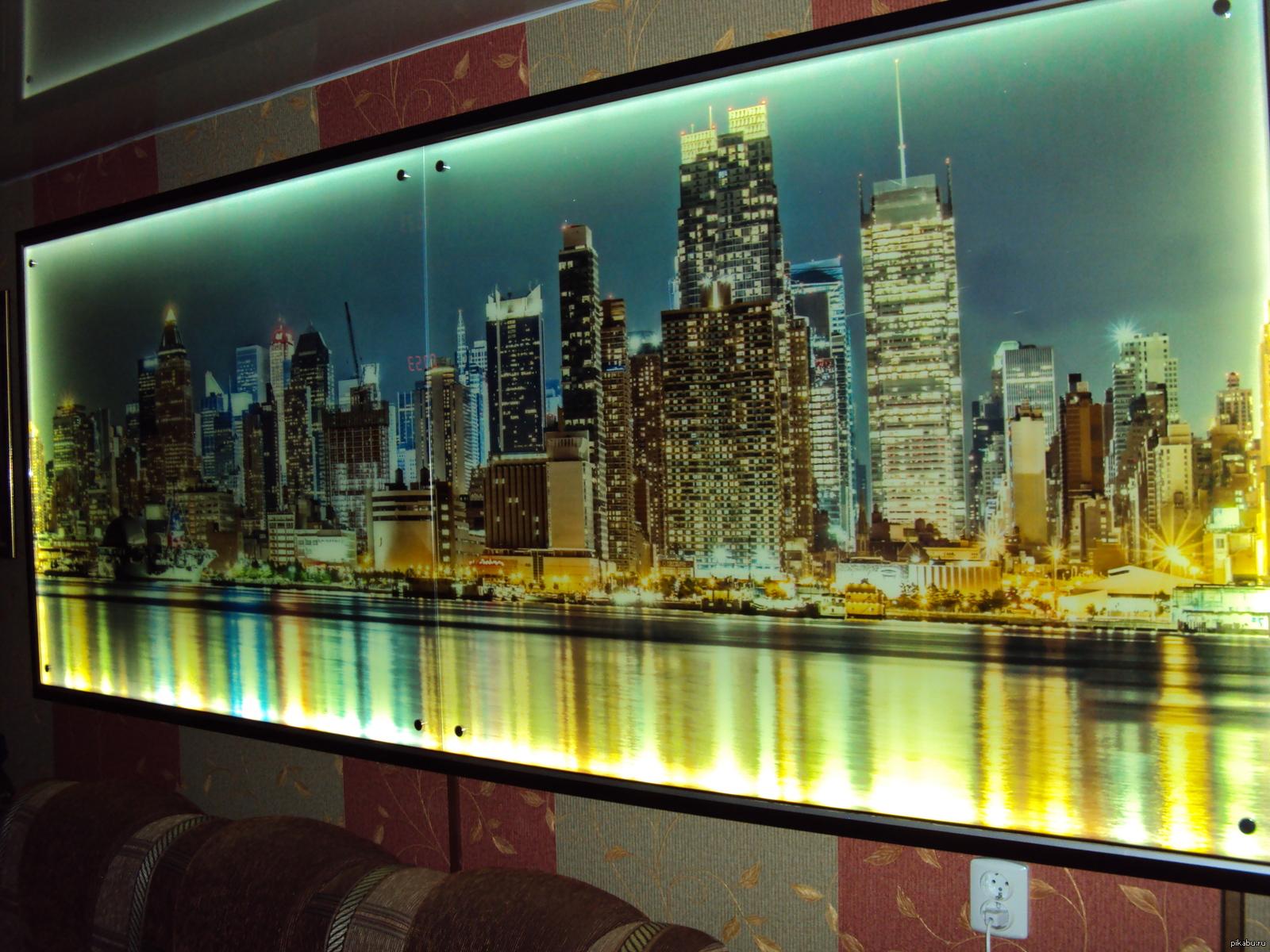 подсветка стен с фотопечатью продолжении темы