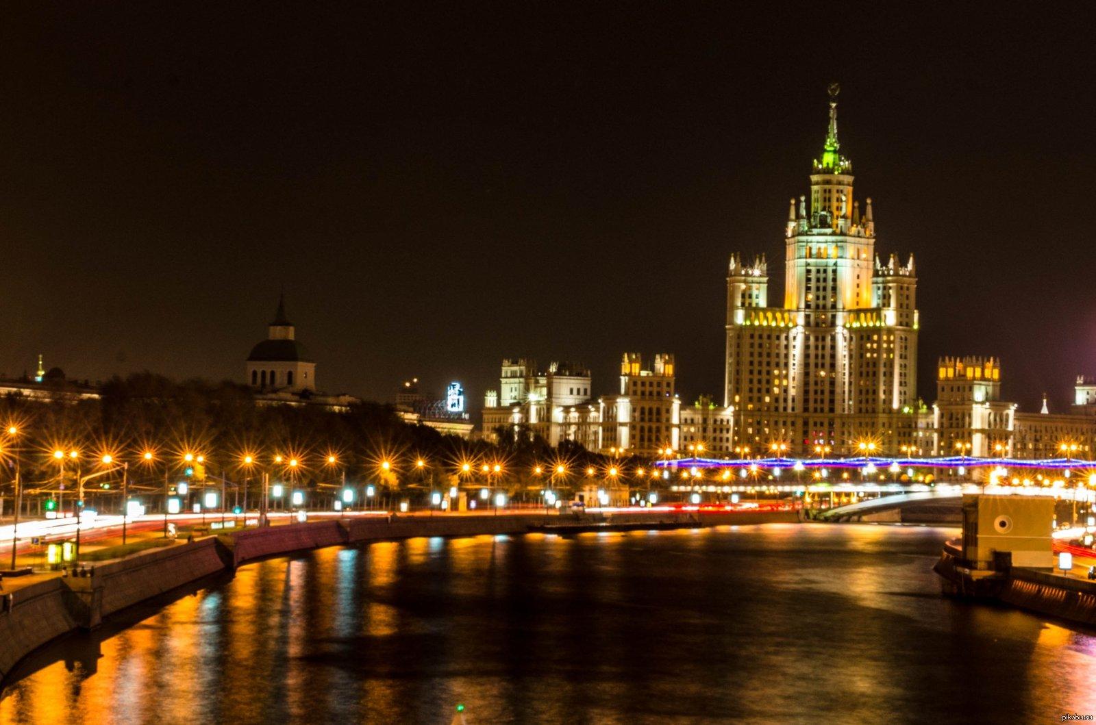 дерево огни ночной москвы фотографии село кримське луганської