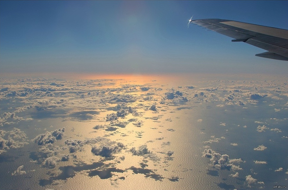 Фотки с самолета где видно