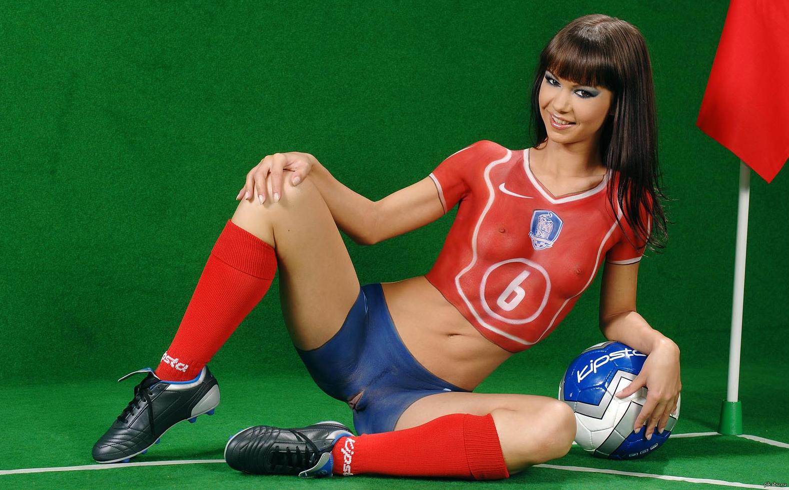 Бодиарт девушки футбол голых фото 198-400
