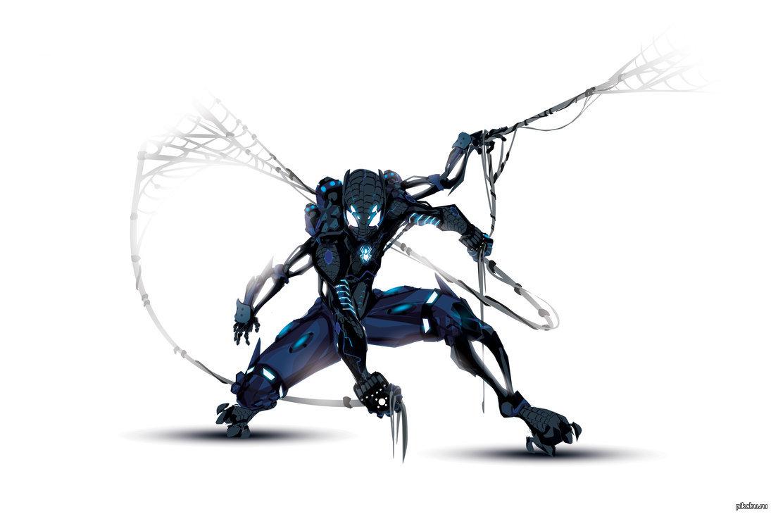 картинки человек паук железный