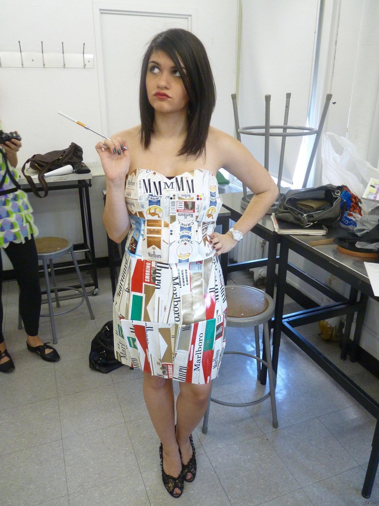 Как сделать платье из мусорных пакетов фото 83