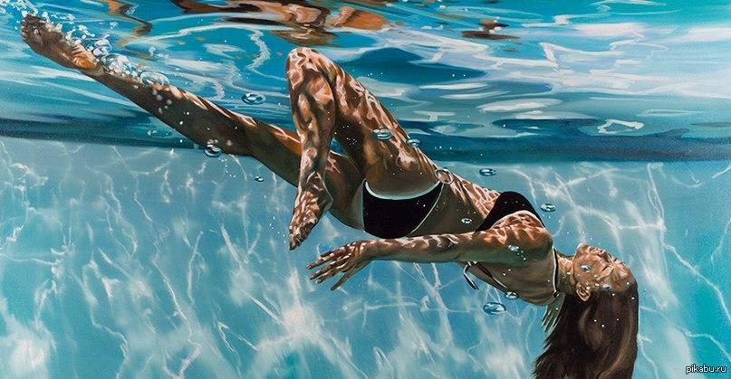 в бассейне фото девушки