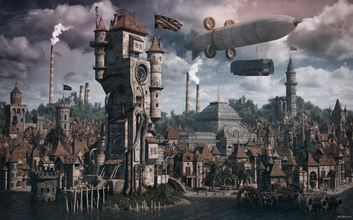 Картинки по запросу стимпанк город